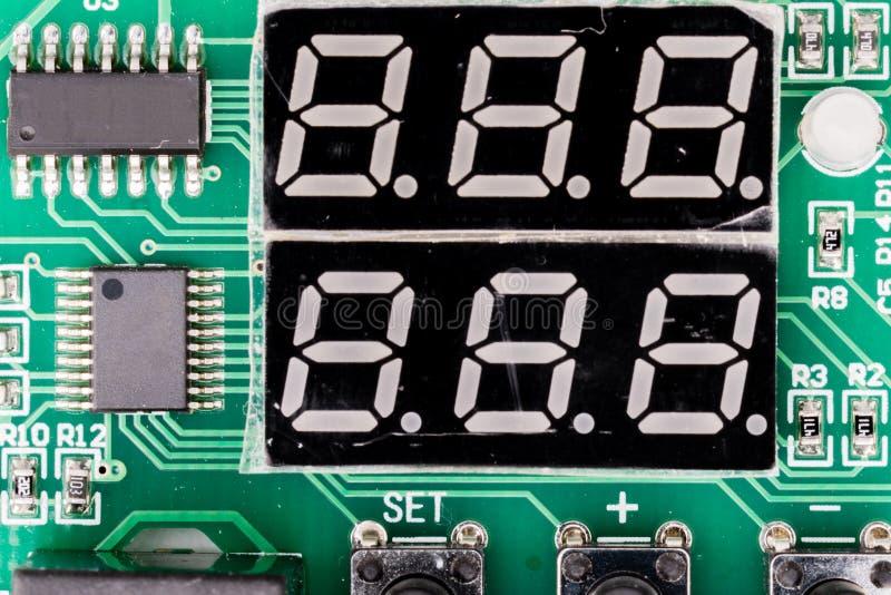 SSD da exposição do Sete-segmento, ou indicador, dispositivo de exposição eletrônica para indicar numerais decimais foto de stock royalty free