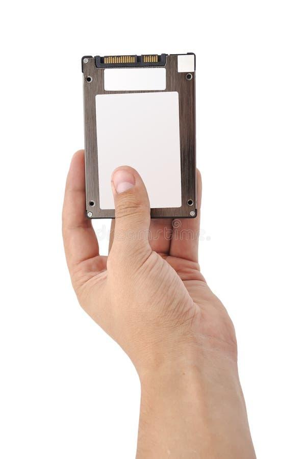 SSD in der Hand lizenzfreie stockbilder