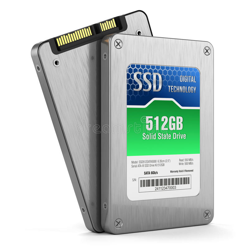 SSD drive, State solid drives royalty free illustration