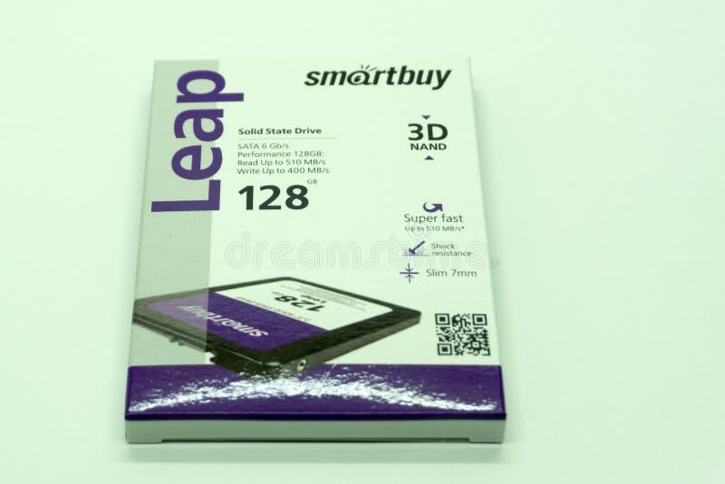 SSD smartbay, urządzenia pamięciowe używać dane nagranie, Rosja Berezniki 13 2018 Nov obrazy stock