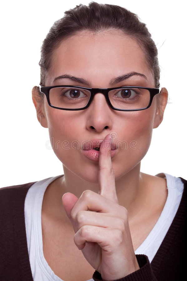 Download Sshh stock photo. Image of finger, surprise, skin, secret - 9194544