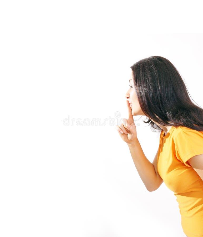 Sshhhh! privacy tot elke prijs royalty-vrije stock foto