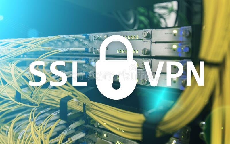 SSL VPN Виртуальная частная сеть Шифровать соединение иллюстрация штока