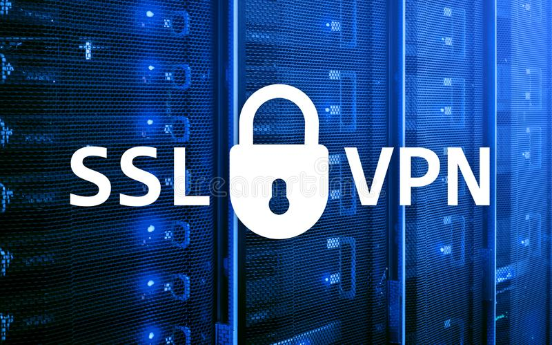 SSL VPN 虚拟专用网络 被加密的连接 免版税库存图片