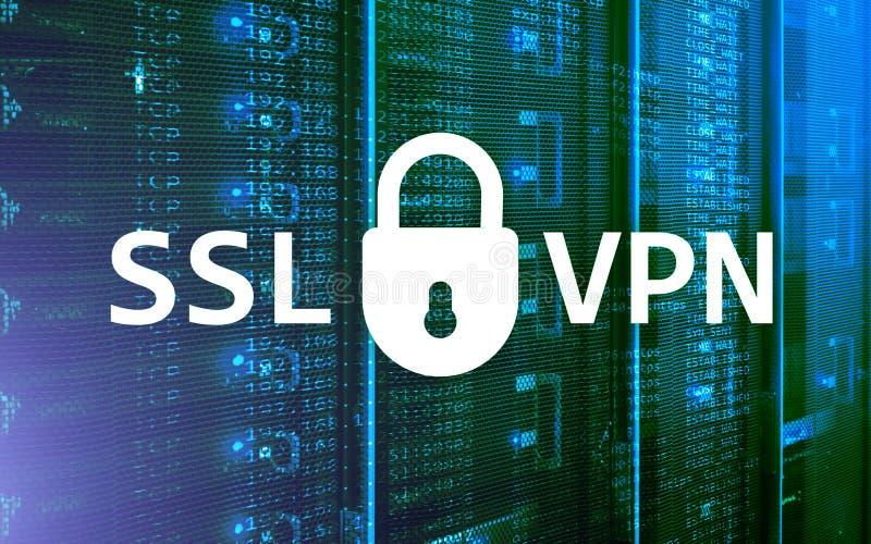 SSL VPN 虚拟专用网络 被加密的连接 免版税库存照片