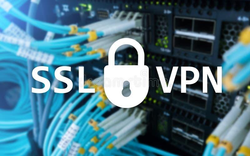 SSL VPN Faktiskt privat nätverk Kodad anslutning arkivfoton