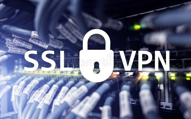 SSL VPN Faktiskt privat nätverk Kodad anslutning royaltyfri foto