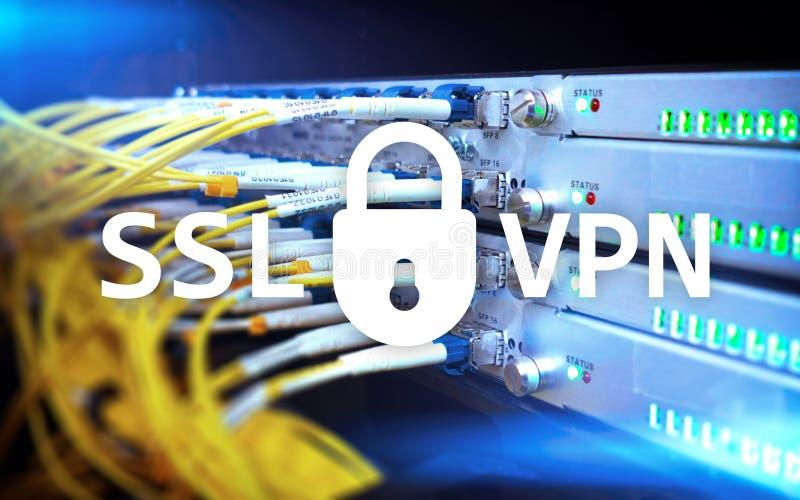 SSL VPN Faktiskt privat nätverk Kodad anslutning royaltyfri bild