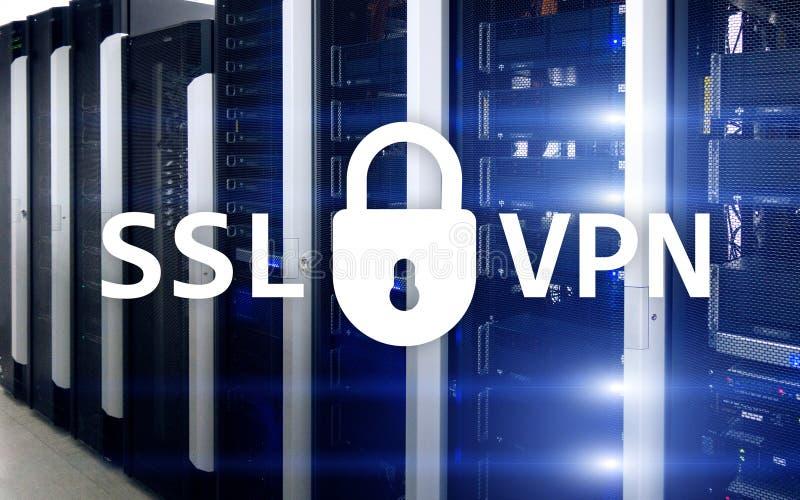 SSL VPN Virtueel Privé Netwerk Gecodeerde verbinding vector illustratie