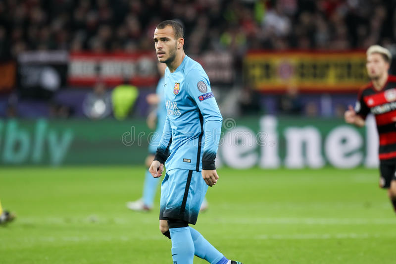 Ssndro Ramirez during the UEFA Champions League game between Bay. Leverkusen, Germany- December 9, 2015: Ssndro Ramirez during the UEFA Champions League game royalty free stock photo