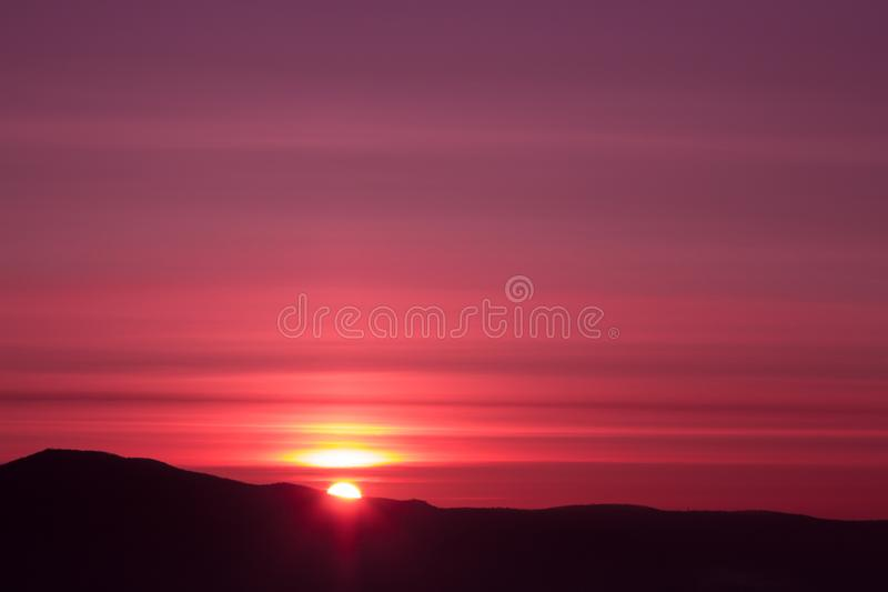 Sunrise sky stock photography