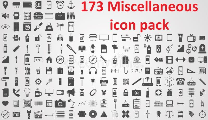 Ssymbols diversos de la muestra del vector del paquete del icono libre illustration
