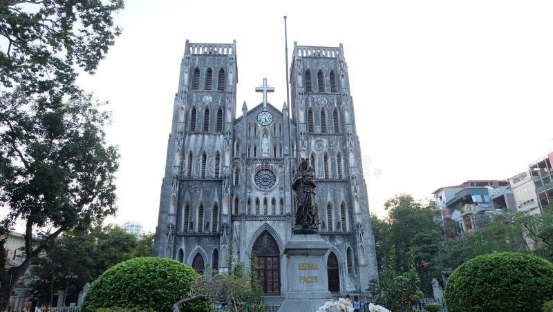 StJoseph& x27; s大教堂,河内,越南 免版税库存照片