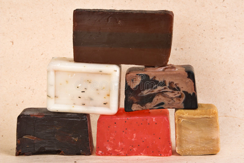 Stäbe der handgemachten Seife lizenzfreie stockfotografie