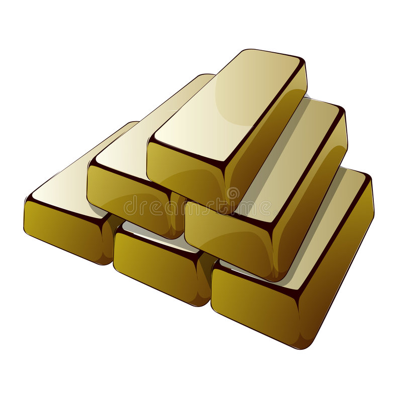 Stäbe des Goldes stock abbildung