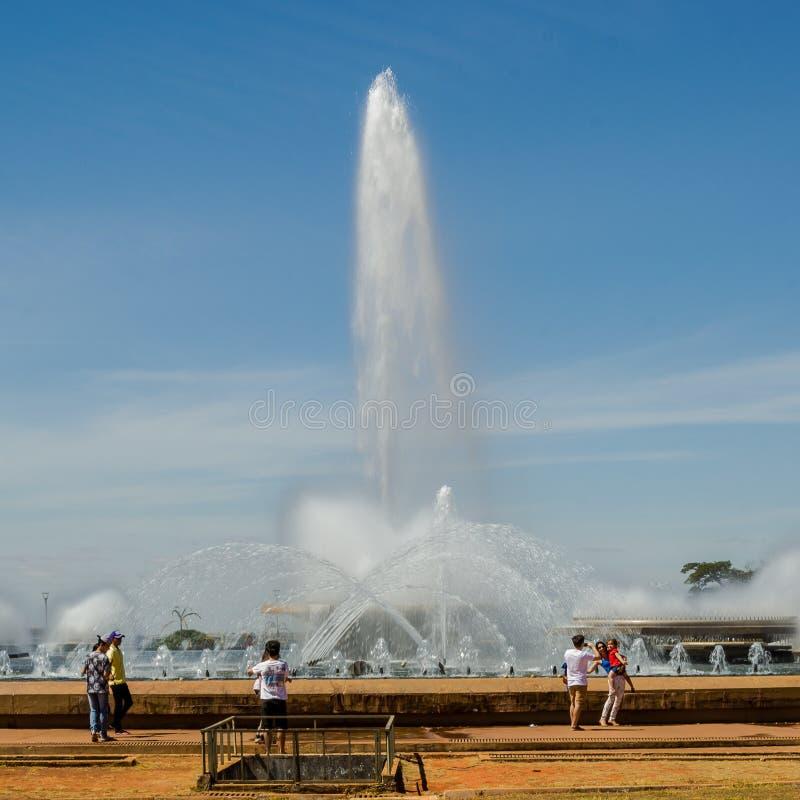 Städer av Brasilien - Brasilia - Brasilien huvudstad royaltyfri fotografi