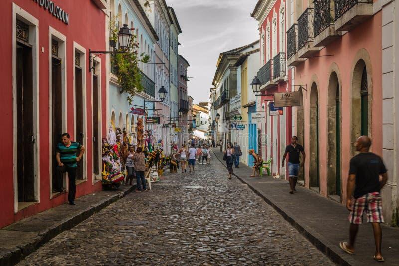 Städer av Brasilien - Salvador, Bahia arkivbild