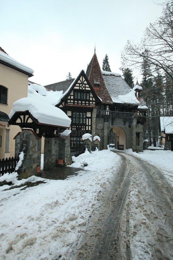 Städer och slottar av medeltida Rumänien royaltyfria bilder