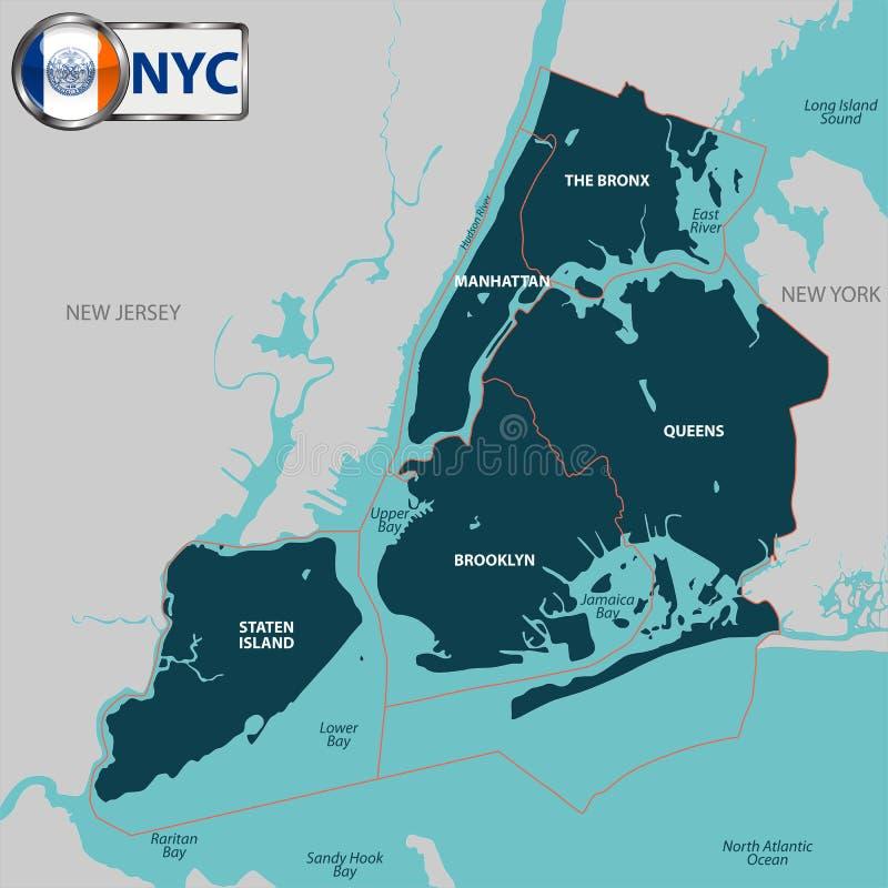Städte von New York City stock abbildung