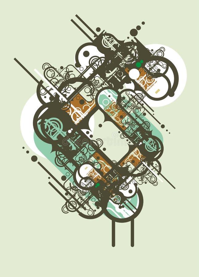 Städtische abstrakte Auslegung lizenzfreie abbildung