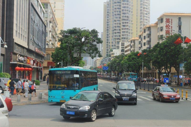 Städtische Ansicht von Shenzhen-Fahrbahn lizenzfreie stockfotos