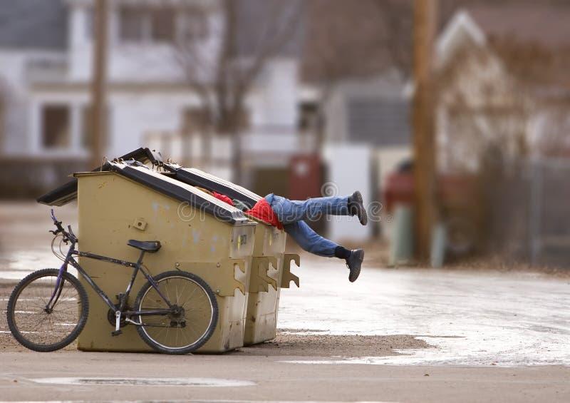 Städtische Armut stockbild