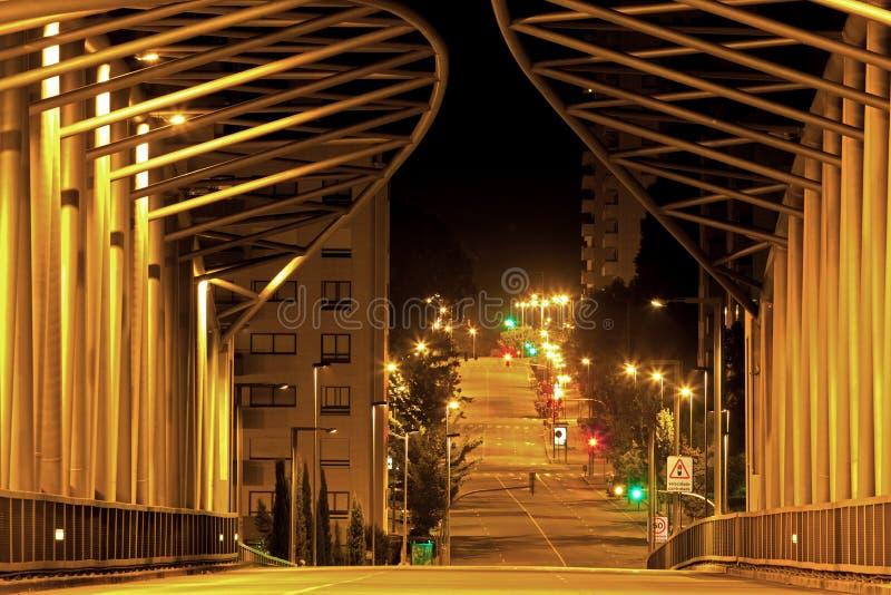 Städtische Brücke stockbild