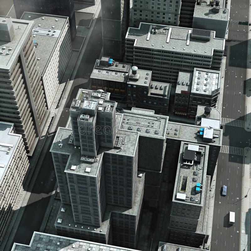 Städtische Dachspitzen vektor abbildung