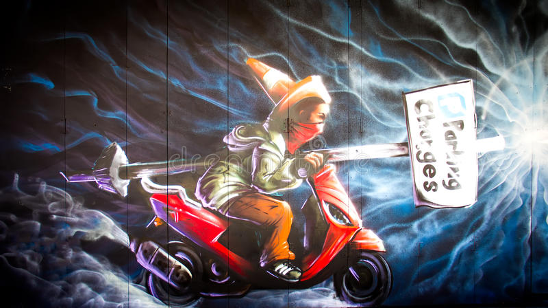 Städtische Graffiti stockfoto