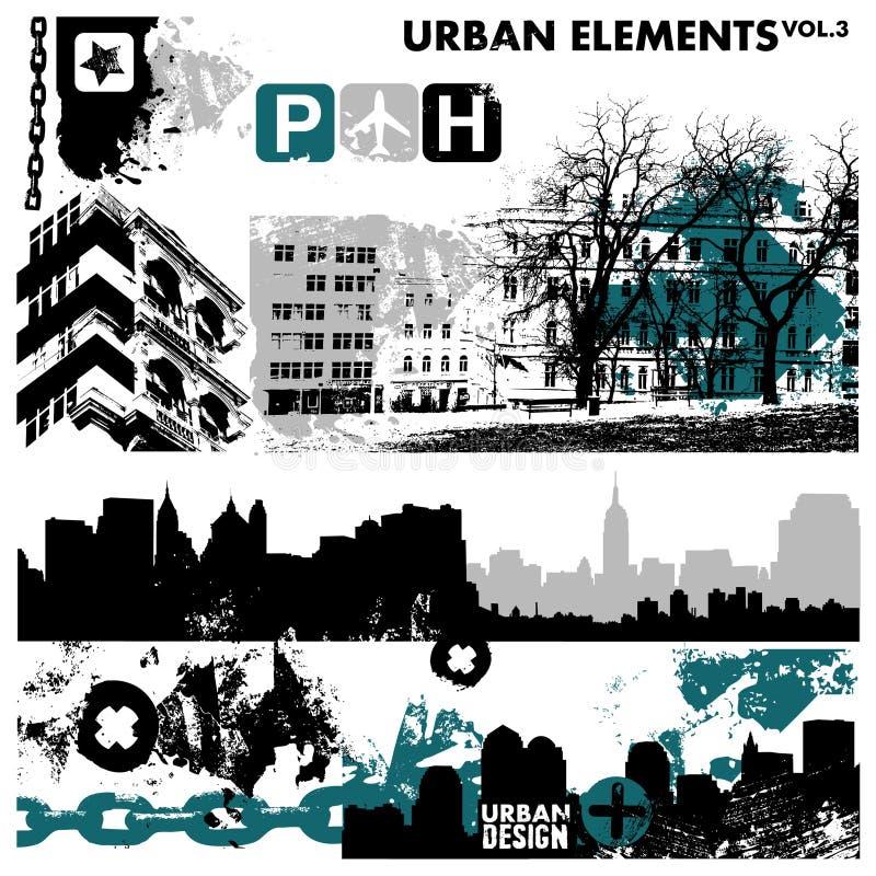 Städtische grafische Elemente 3 stock abbildung