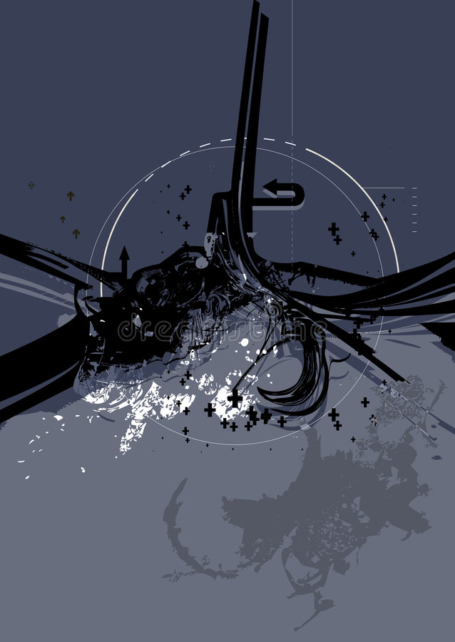 Städtische Grunge Serie No.1.2 vektor abbildung