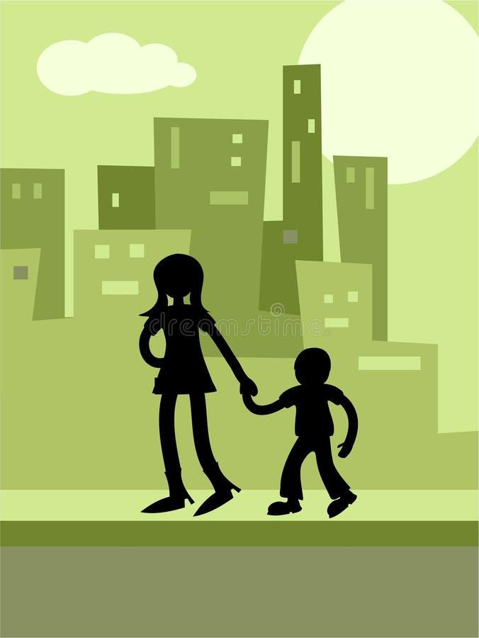 Städtische Kinder stock abbildung