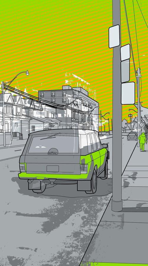 Städtische Landschaft stock abbildung
