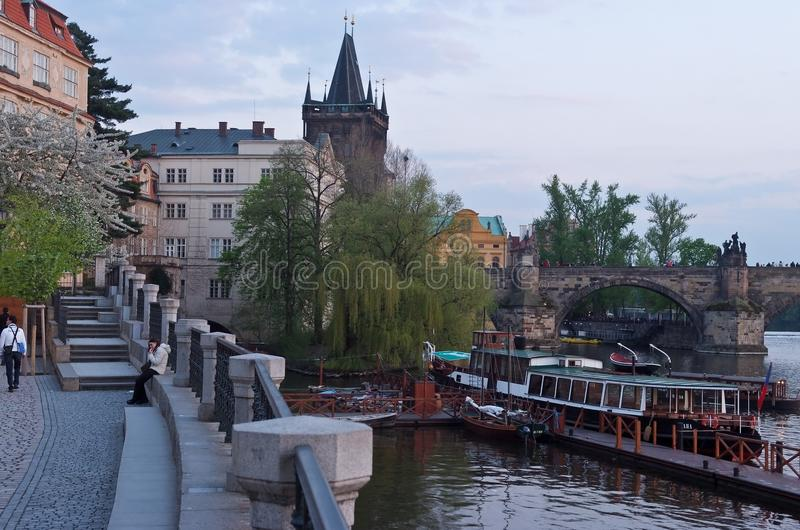 Städtische Landschaft Prag, Tschechische Republik stockfoto