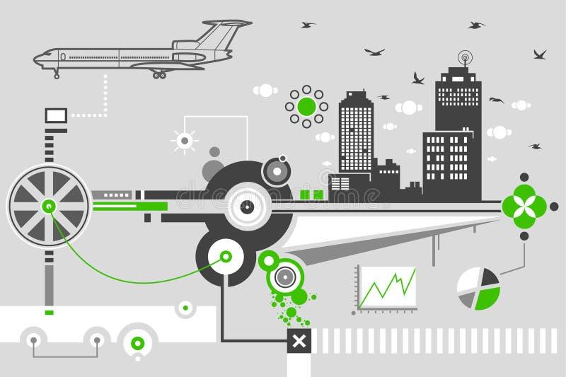 Download Städtische Lebensdauer vektor abbildung. Illustration von wolken - 12203705