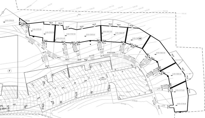 Städtische Planzeichnung stockbilder