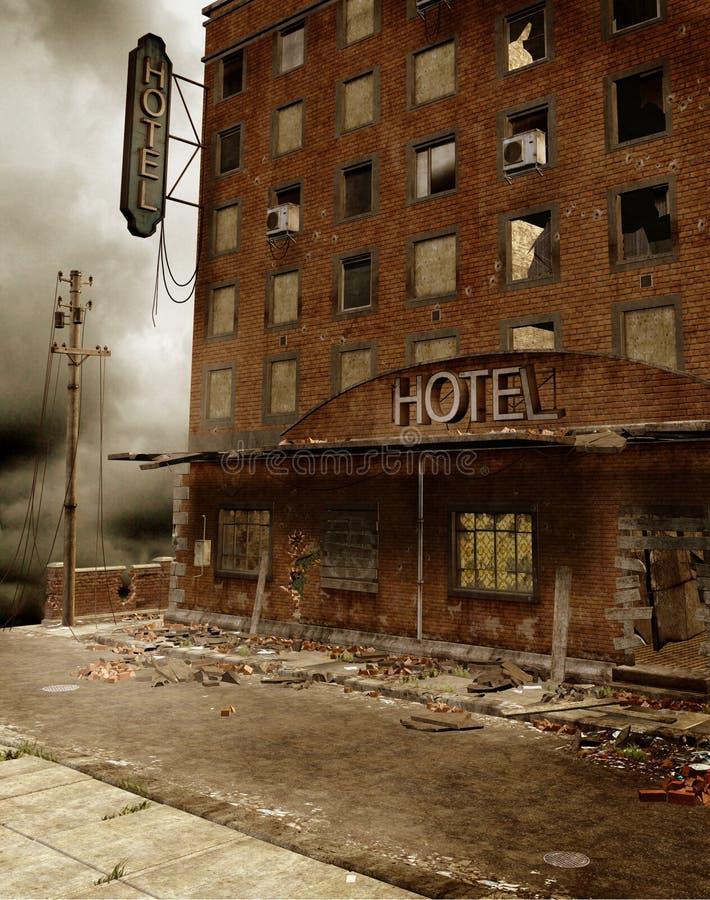 Städtische Ruinen 2 lizenzfreie abbildung