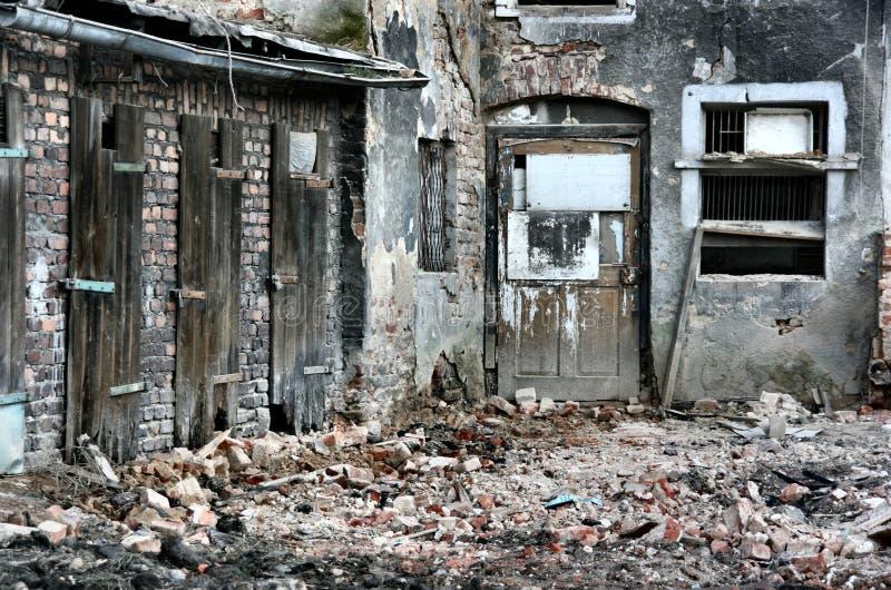 Städtische Ruinen stockfotos
