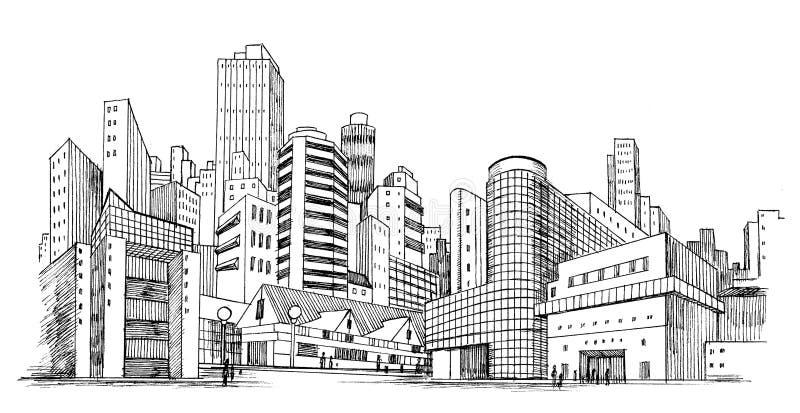 Städtische Stadt stock abbildung