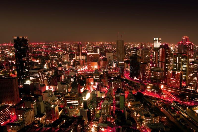 Städtische Stadt bis zum Nights stockbilder