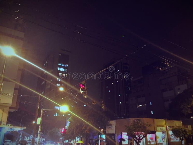 Städtische Stadtnacht lizenzfreies stockfoto