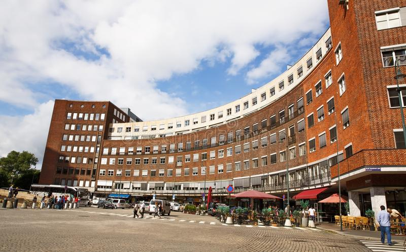 Städtische Szene in Oslo-Stadt stockbilder