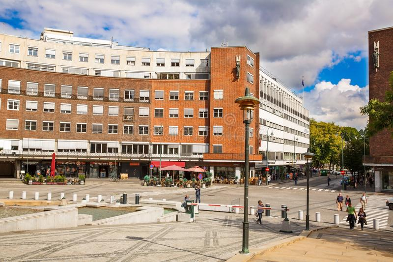 Städtische Szene in Oslo-Stadt lizenzfreie stockfotografie