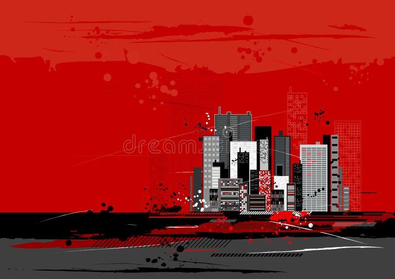 Städtische Szene, Vektor lizenzfreie abbildung