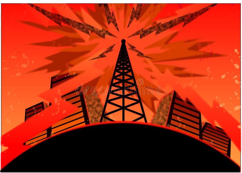 Städtische Telekommunikation stock abbildung