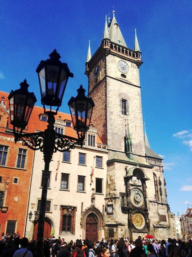 Städtischer Altbau in Prag, am 17. August 2017 lizenzfreie stockfotografie