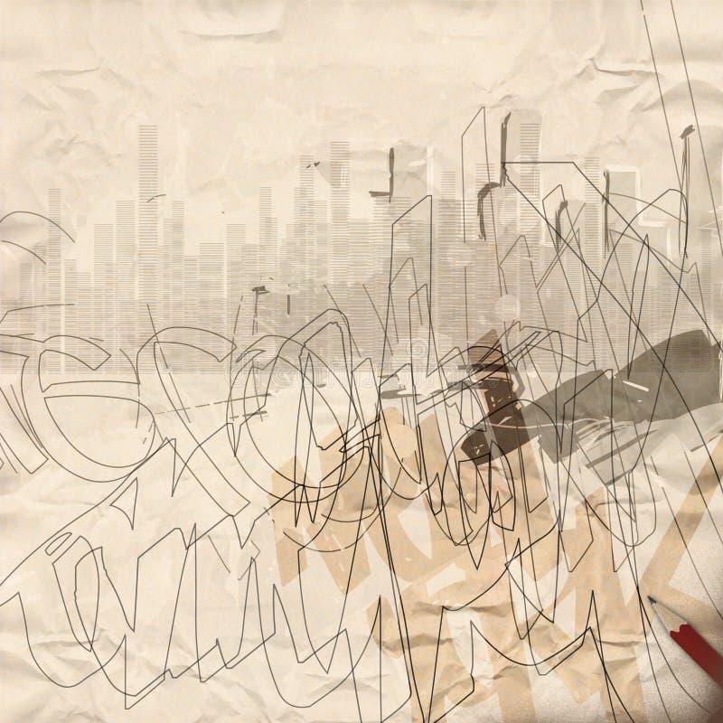 Städtischer Grunge Hintergrund vektor abbildung