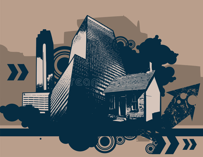 Städtischer grunge Hintergrund stock abbildung