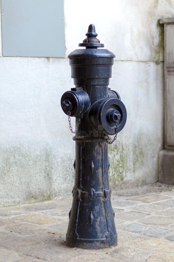 Städtischer Hydrant auf der Pflasterung lizenzfreie stockfotografie