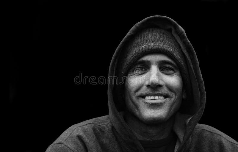 Städtischer Mann-Portrait BW stockfoto